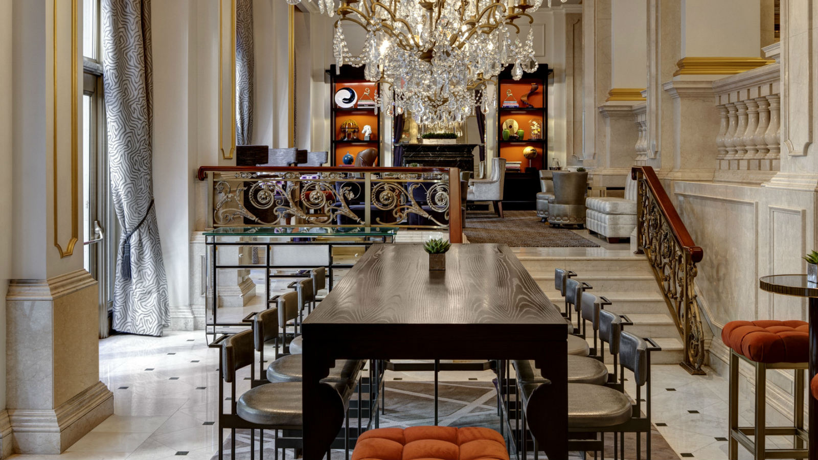 Afternoon Tea NYC - King Cole Bar Communal Table - The St. Regis New York